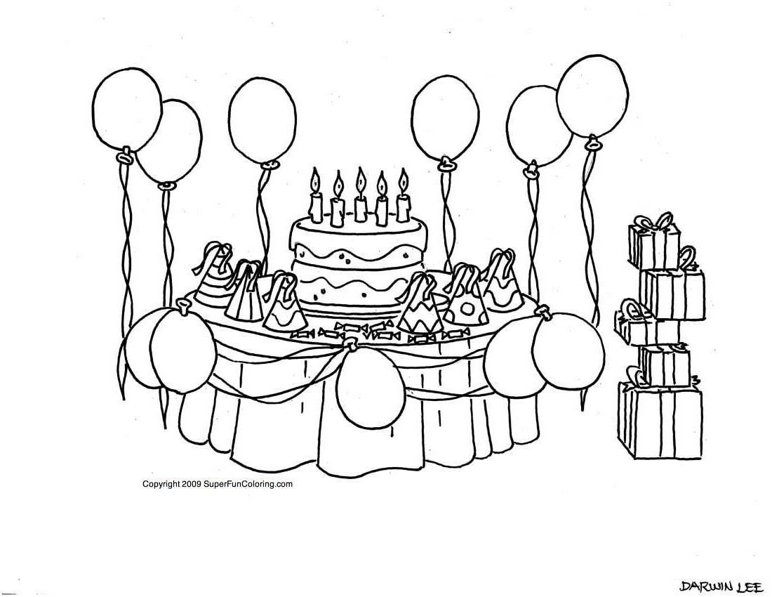 Dessin jeux de coloriage anniversaire