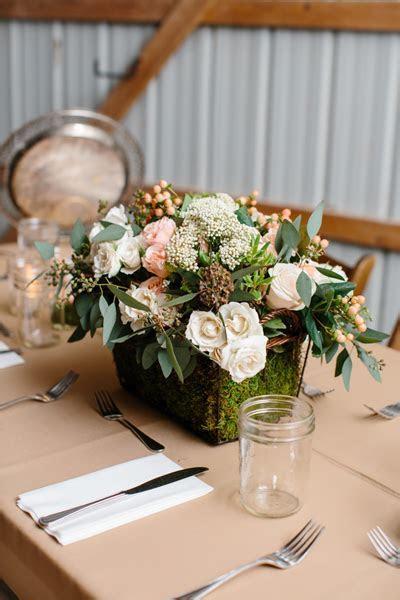 southern wedding moss centerpiece
