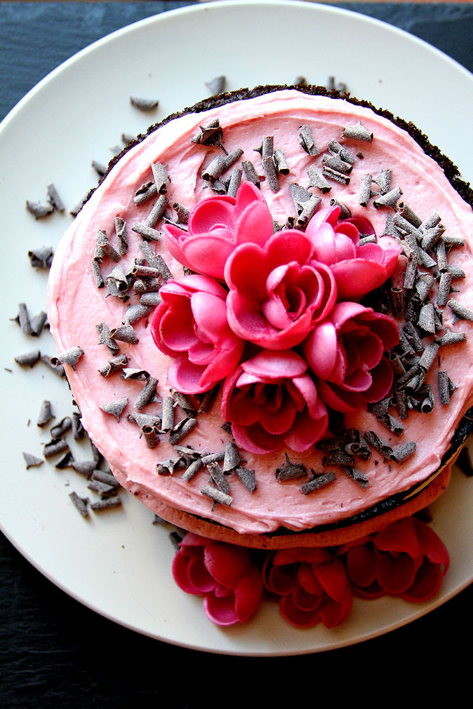 Chocolate Raspberry and Roses Cake - A Cup of Sugar … A ...