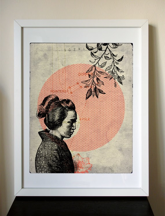HELP JAPAN - 12x16 Japanese Girl giclee print