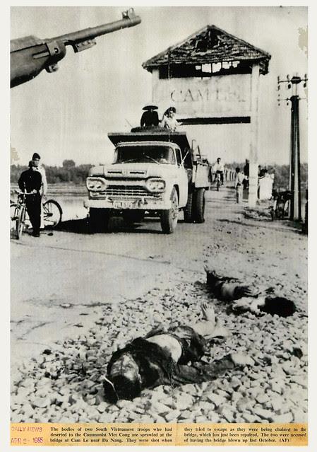 Bodies of Vietnamese Defectors at Cam Le Bridge