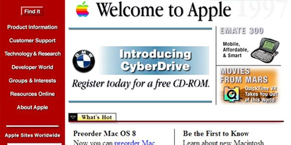 Apple old website