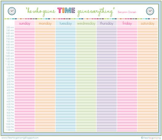 1000+ ideas about Daily Schedule Printable on Pinterest | Schedule ...