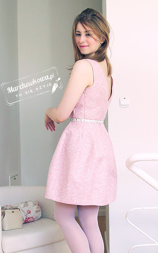 marchewkowa, szafiarka, moda, retro, blog, Zara tulip dress, sukienka tulipanowa, spring, wiosna 2012