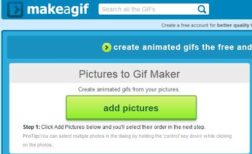 موقع Makeagif لتصميم الصور المتحركة بدون برامج