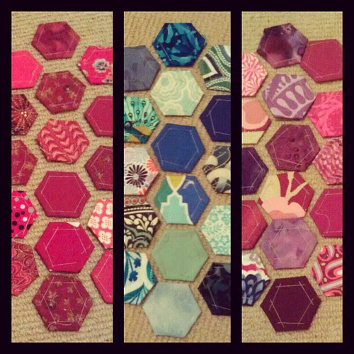 #sydmqg hexies to be sewn together! Getting there slowly!