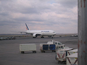 An Air France Boeing 777 in JFK International ...