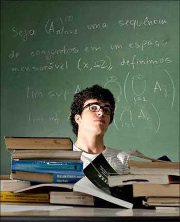 Estudante de matemática, Leandro prefere fazer carreira na pesquisa   ((Edilson Rodrigues/CB/D.A PRESS))