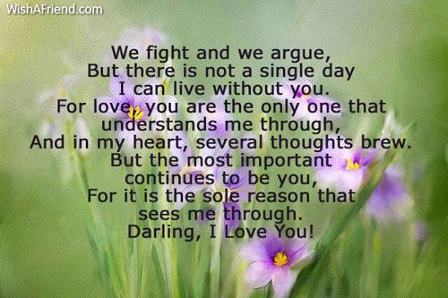 I Love You Love Poem