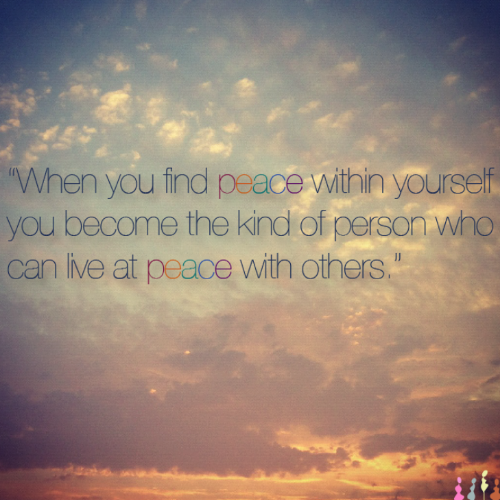 Finding Peace Within Yourself A2z Quote