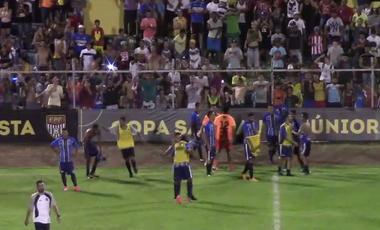 São Carlos classifica Copa São Paulo (Foto: Reprodução TV FPF)