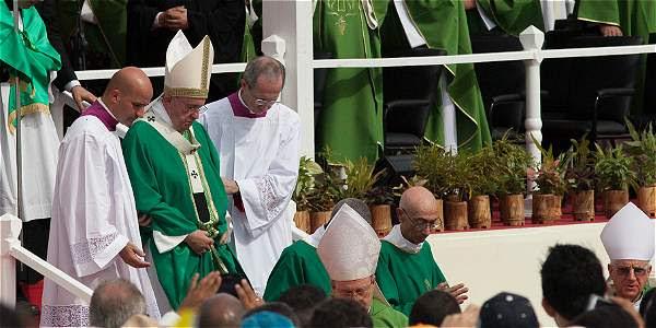El Papa, en su primera misa en Cuba.