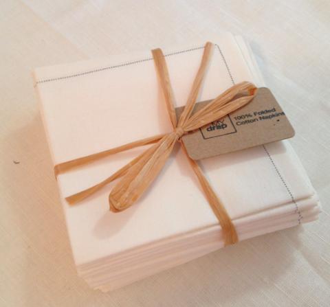 MyDrap Folded Cloth Napkins Bundle in Ecru