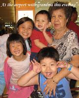 Grandma with the grandchildren