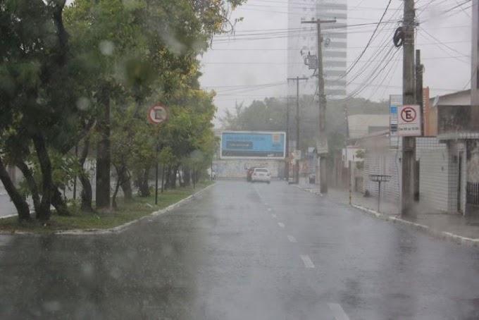 João Pessoa registra 134 mm de chuvas nas últimas 24 horas