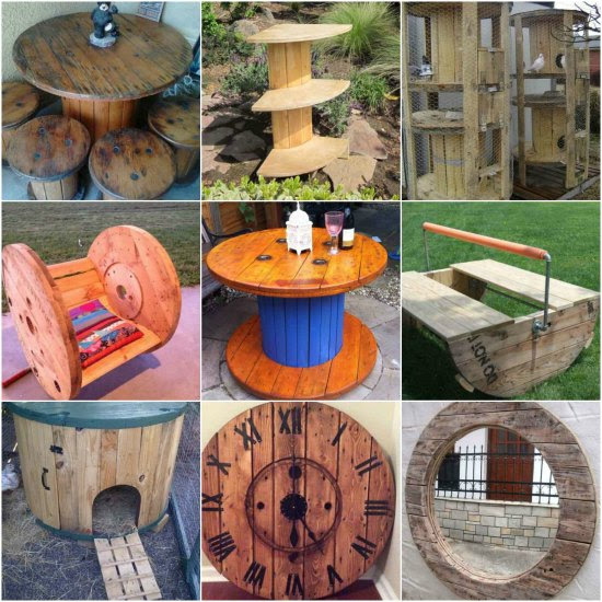 50 Stunning Large Wooden Spool Crafts Ideas