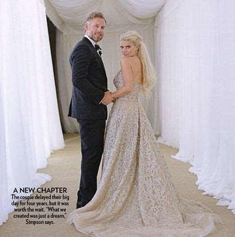 Jessica Simpson & Eric Johnson Wed   July 2014   Celebrity