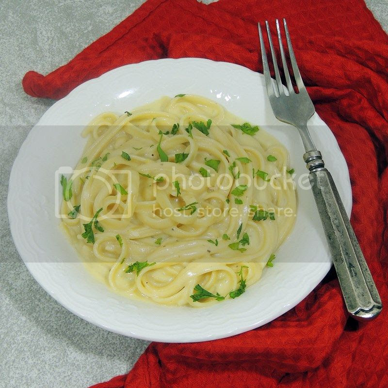 Lightened-Up Fettuccine Alfredo
