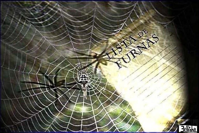 bessinha lista de furnas com teia de aranha
