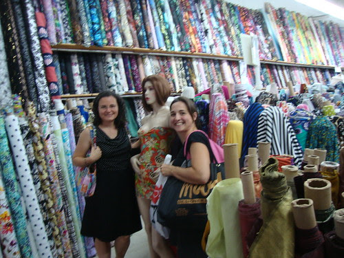 with Mary at Chic fabrics