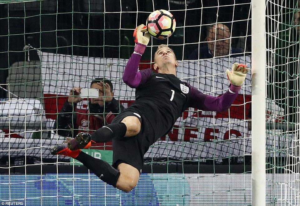 Hart saved England's blushes with a magnificent pair of saves in the opening two minutes of the second half in Slovenia