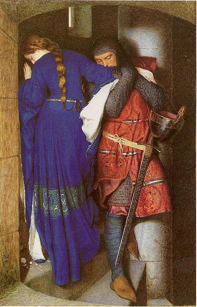 File:Frederic William Burton - Hellelil and Hildebrand or The Meeting on the Turret Stairs.jpg