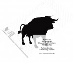 Big Tex the Bull Silhouettes Yard Art Woodworking Pattern - fee plans from WoodworkersWorkshop® Online Store - steer,bulls,cowboys,western,rodeos,bronc riding,yard art,painting wood crafts,scrollsawing patterns,drawings,plywood,plywoodworking plans,woodworkers projects,workshop blueprints