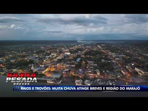 Tempestade com raios assusta moradores de Breves, no Marajó; Veja vídeo