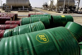 Oil  drums from BP