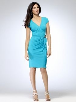 Cache Sea Foam Wrap Dress