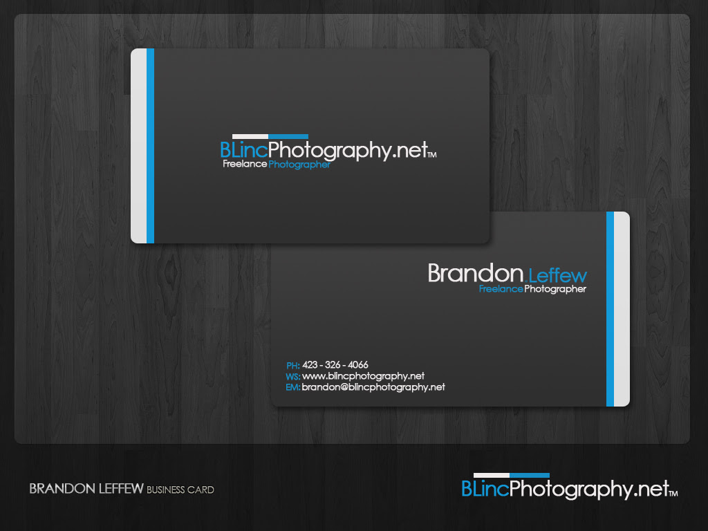 Brandon Leffew photography business card