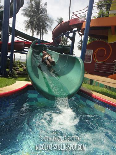 niki on water slide