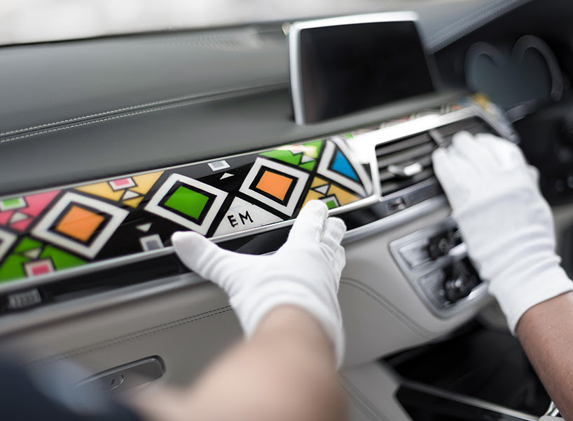 BMW commission south african artist to decorate 7 series interior architecture