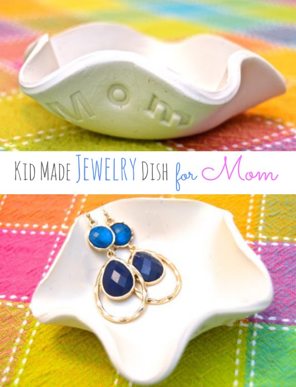 kid made jewelry dish for mother's day