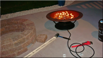 How To Build A Natural Gas Or Propane Outdoor Fire Pit Using Fireglass Toppers Or Glass