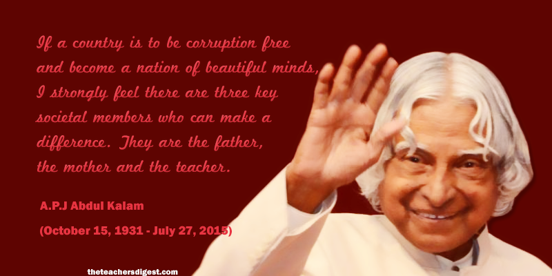 Quote Of The Day Abdul Kalam The Teachers Digest