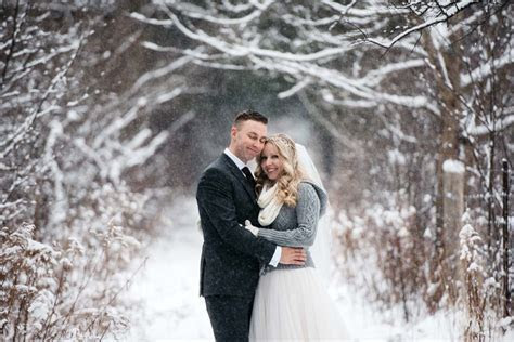 A Woodsy Winter Wedding In Cambridge, Ontario   Weddingbells