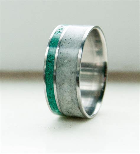 ANTLER AND MALACHITE ON TITANIUM BAND (available in