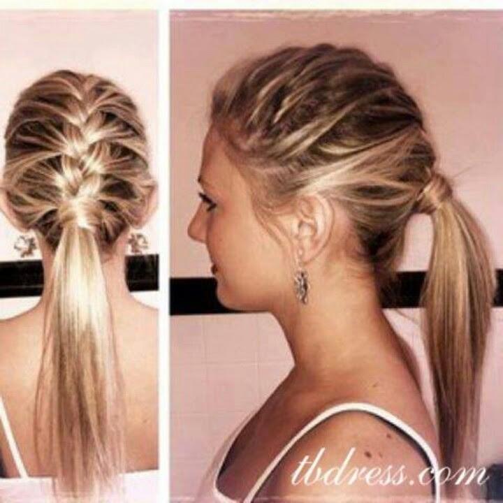 Sleek Low Ponytail Short Hair