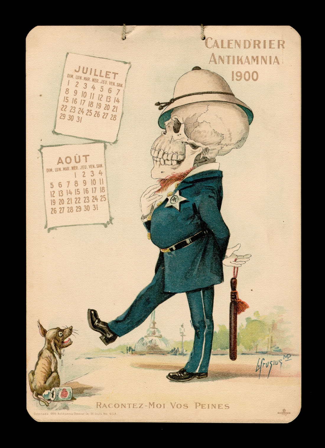 Antikamnia calendar 1900 - francais