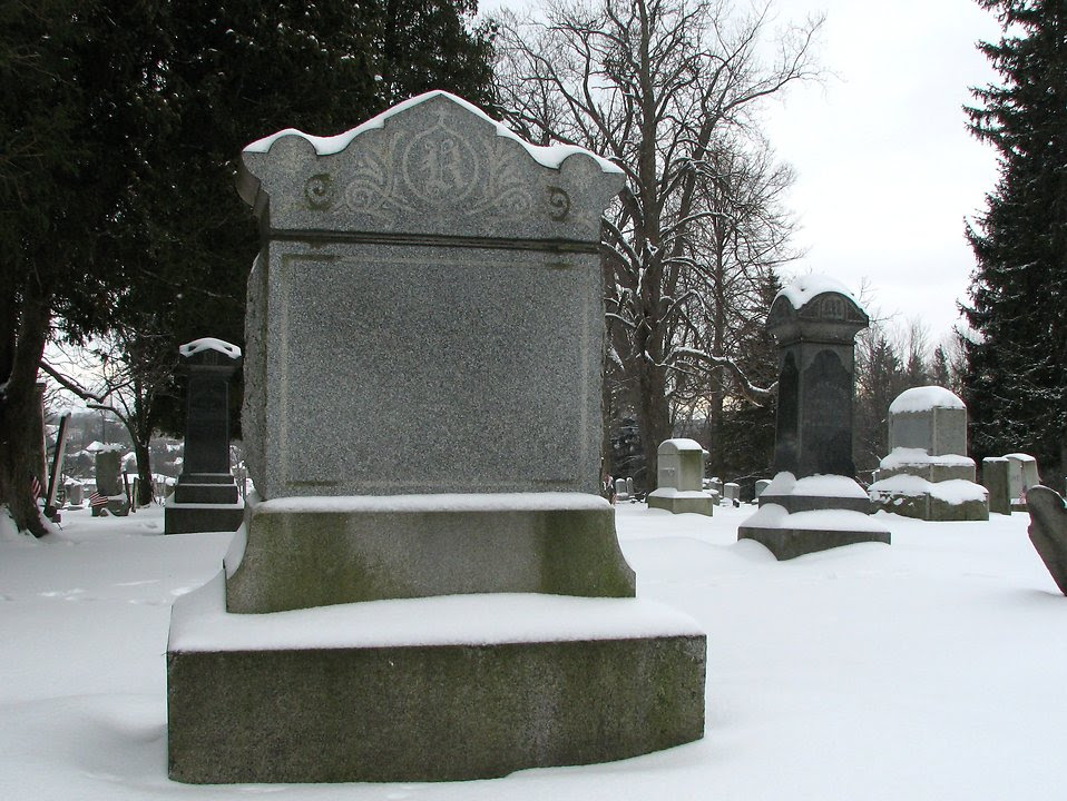 Cemetery | Free Stock Photo | A blank tombstone in a snow covered ...