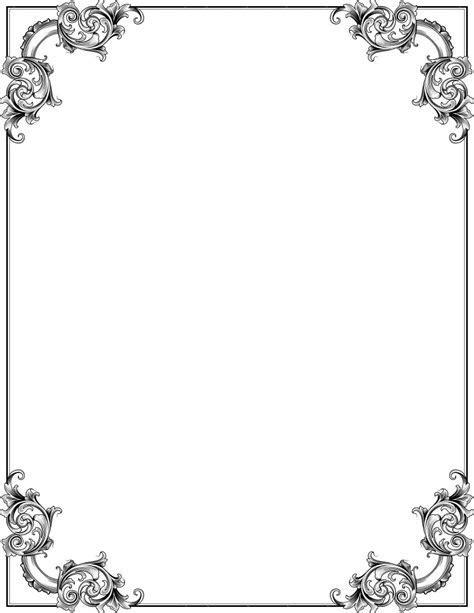 ornate corners frame   /page frames/old ornate borders