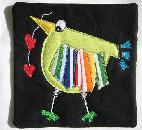 Wonky #1 Bird Mug Rug