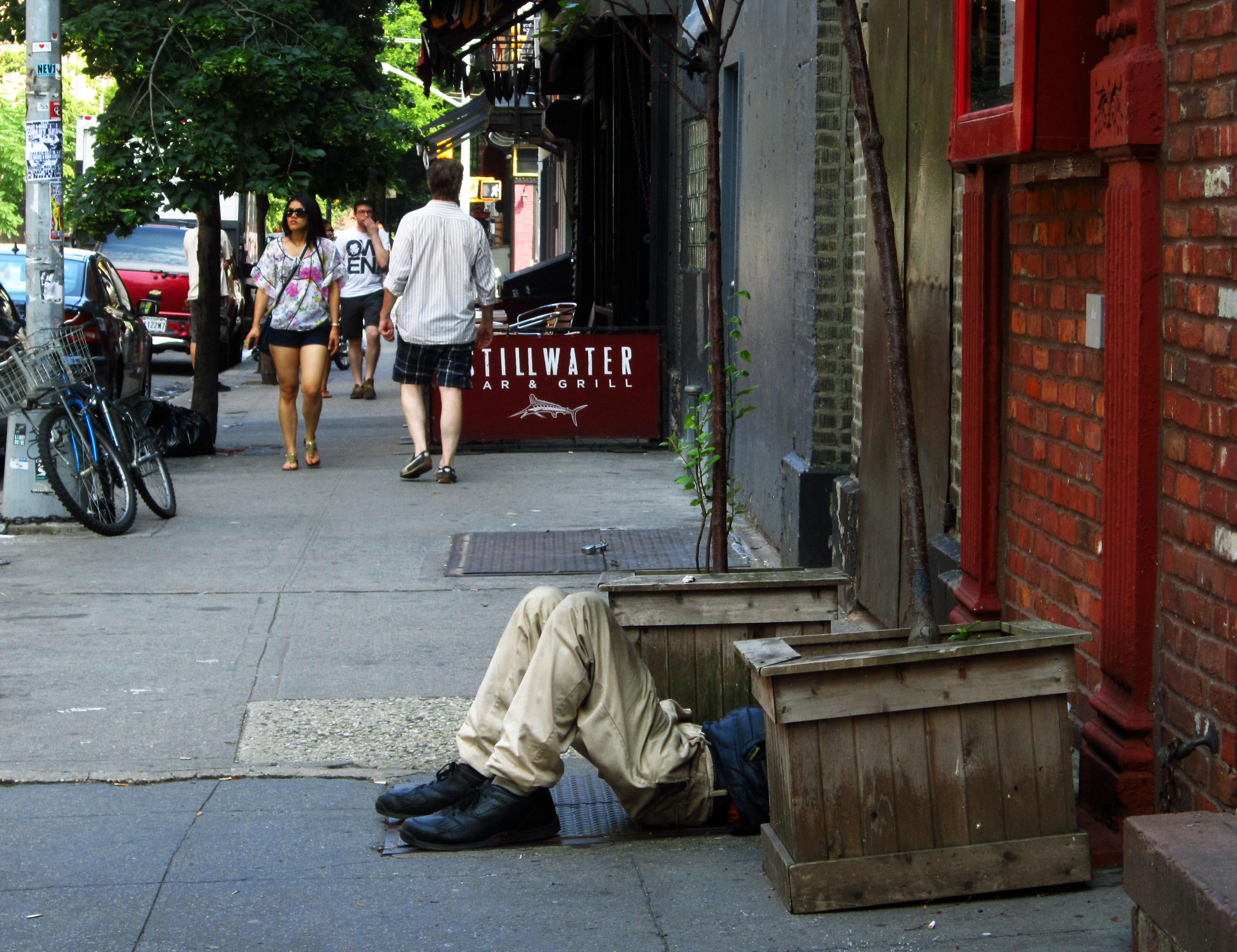 Sidewalk siesta