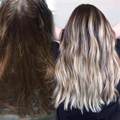 blonde balayage color correction