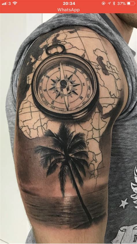 kompas tattoos  guys tattoos compass tattoo