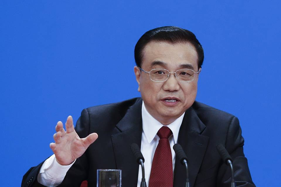 China's Premier Li Keqiang answers question during the annual news conference following the closing session of the National People's Congress at the Great Hall of the People on March 16, 2016 in Beijing, China.