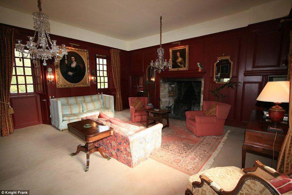 Imposing: The drawing room at Lickleyhead Castle, which despite it's vast size, is the cheapest of the castles and costs just £1.3 million for the entire property