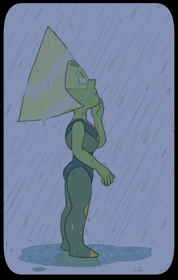 month of Peridot - day 22 feeling pretty blue the rain makes me think of you