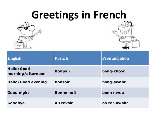 How Do French Say Good Morning Archidev